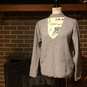 Forever 21 Gray Cutout Sweater